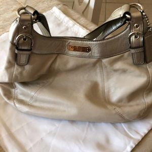 COACH all leather hand bag